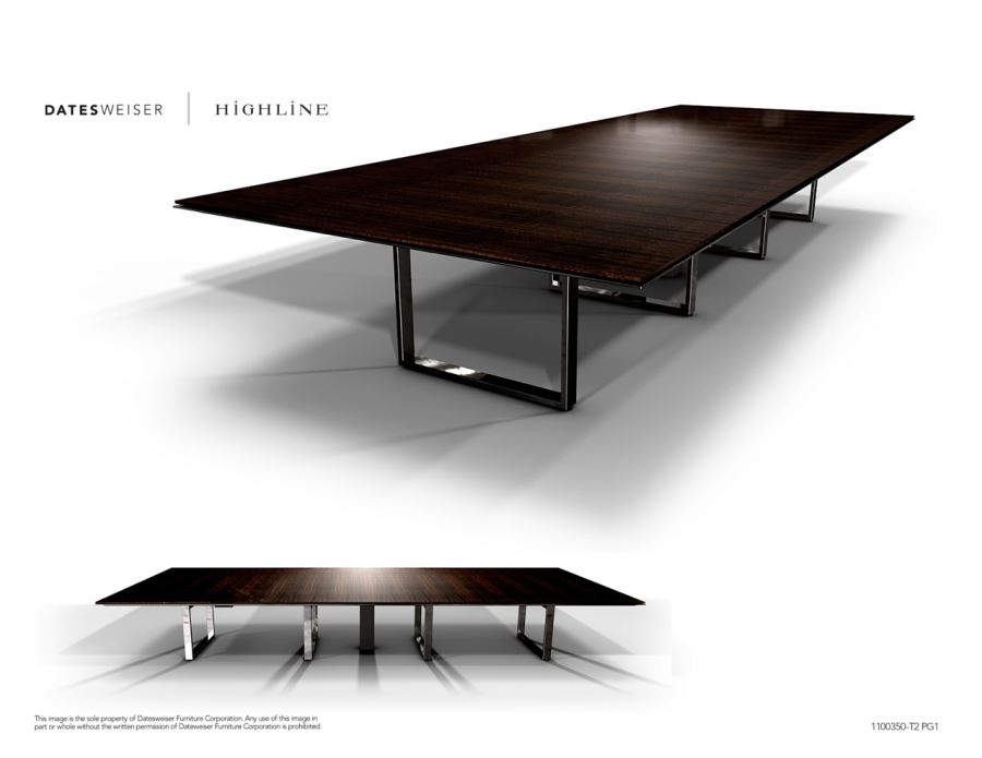 Highline Wood Conference Table 1