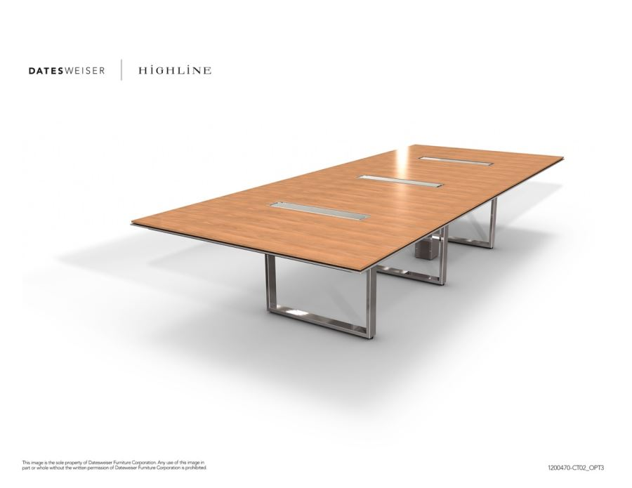 Highline Wood Conference Table 3