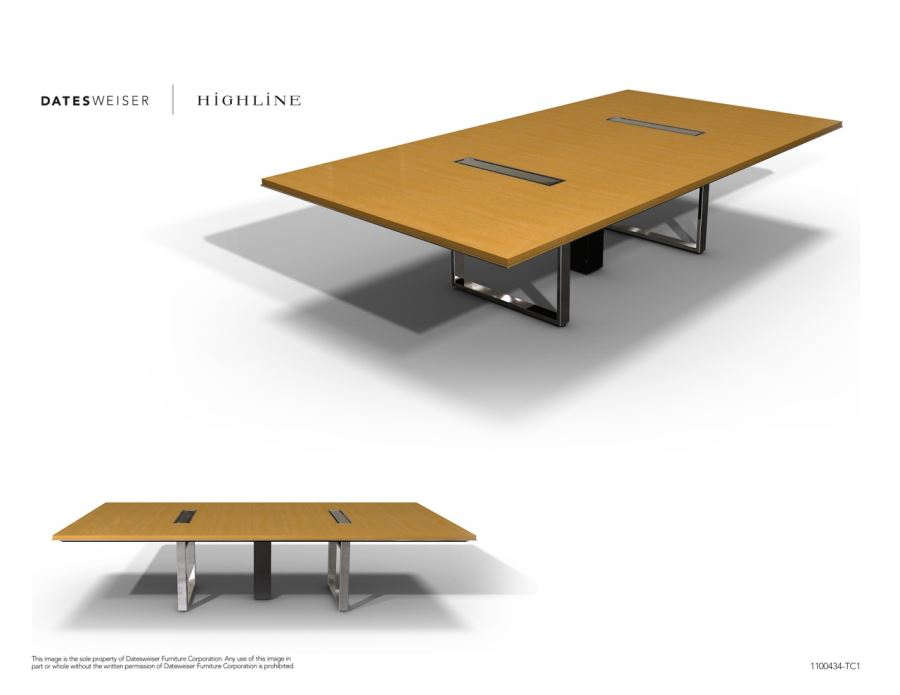 Highline Wood Conference Table 4