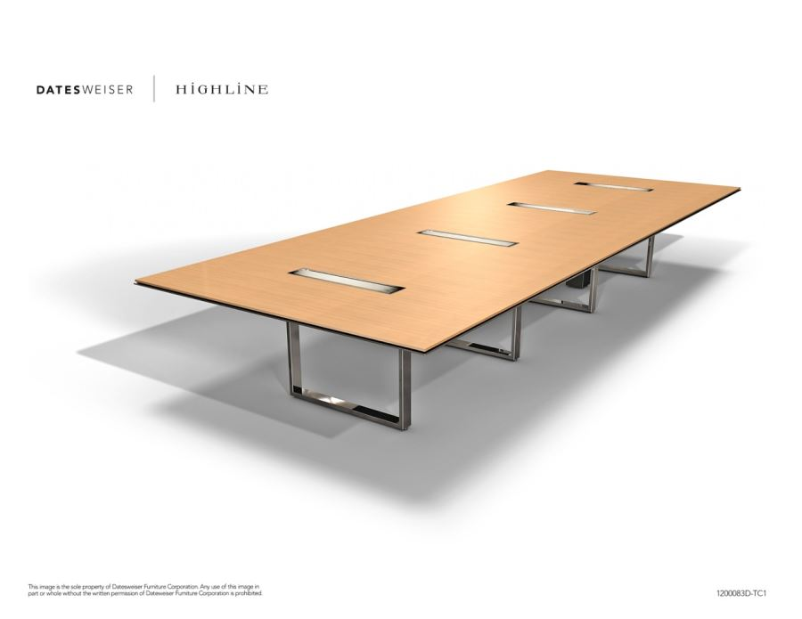 Highline Wood Conference Table 5